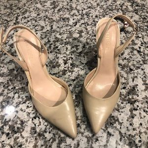 Guess Shoes - Guess cream colored sling backs- worn once!